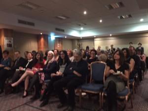 Carol Fox speaks to audience at Memoirs book launch