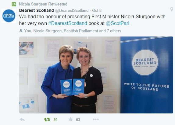 """Dearest Scotland"" now launched and available"